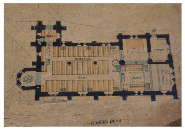Plan view of All Saints' Church, Winthorpe.