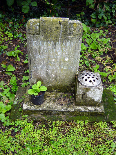 Gravestone of Ellen Mary Euston - July 2007.