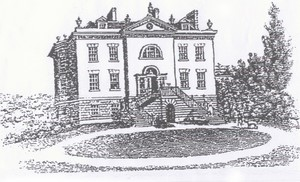 Winthorpe Hall. Engraving by Bartholomew Howett - 1804.