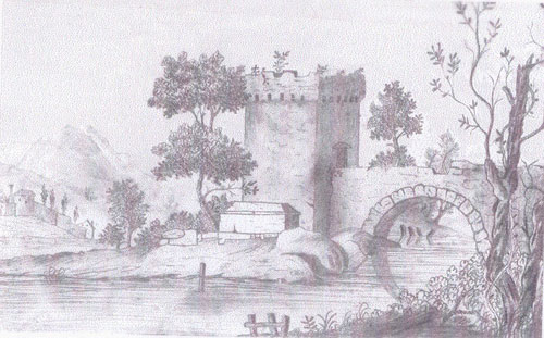 Sketch by Joseph Pocklington of Newark - July 11th 1758.