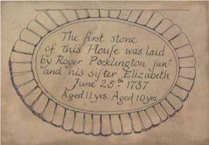 The Stone Tablet concealed by the verandah - 25th June 1787.