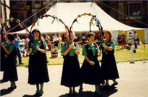 Dancing at Harlaxton - July 1990.